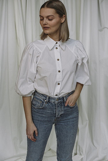 Cotton Poplin Shirt Bright White