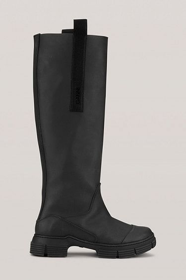 Recycled Rubber Country Boot Black