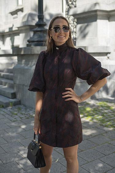Jacquard Mini Dress Decadent Chocolate