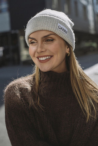 Recycled Wool Knit Hat Paloma Melange