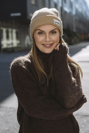 Recycled Wool Knit Hat Tigers Eye