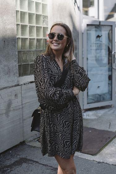 Printed Georgette Mini Dress Kalamata