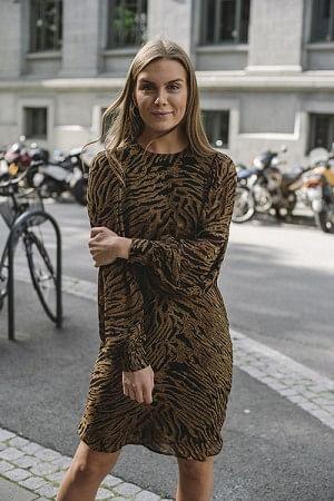 Printed Georgette Mini Dress Tiger