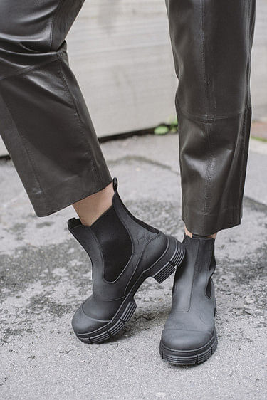 Recycled Rubber City Boot Black