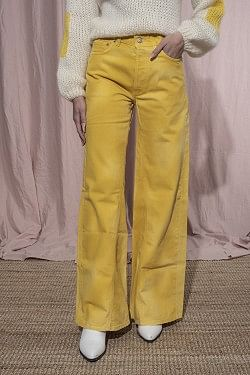 Shiloh Wide Pants Minion Yellow