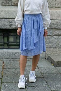 Printed Georgette Skirt Forever Blue