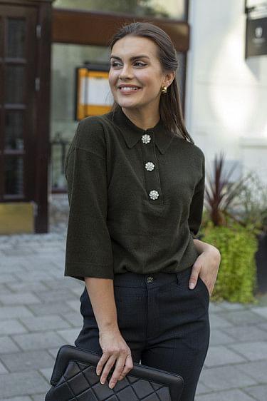 Oversized Cashmere Knit T-Shirt