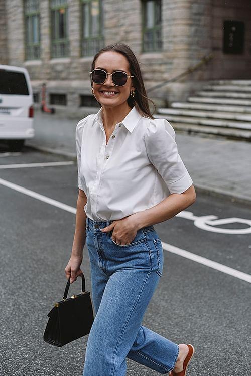 NORR Billie Shirt White skjorte