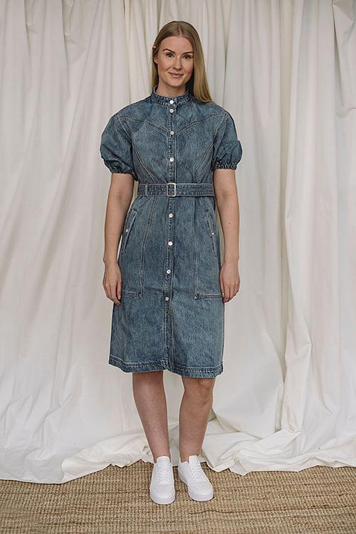 Gestuz Dacy Dress Medium Blue kjole
