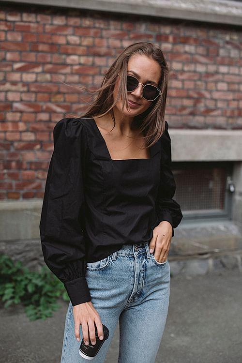 Gestuz Elvana Blouse Black bluse