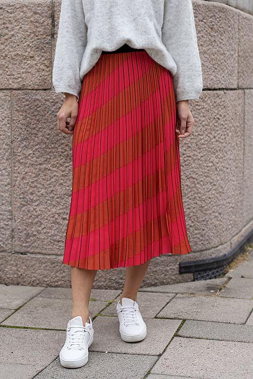 Gestuz Alessia Skirt Pink Stripe skjørt