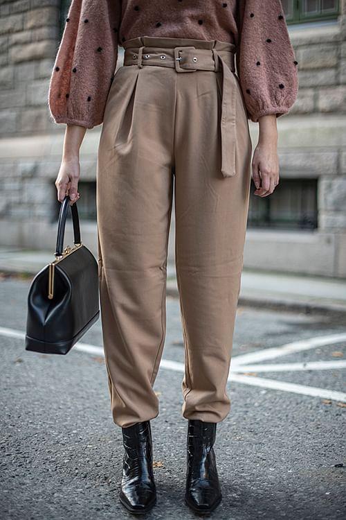 Gestuz Lenora Pants Tannin dressbukse