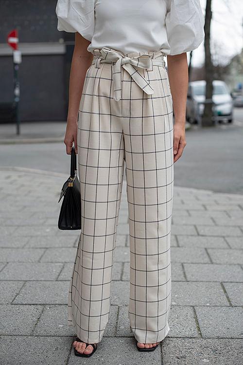 gestuz linoa pants egret bukse