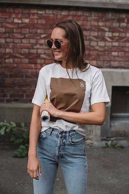 Gestuz Myna Tee Bright White t-skjorte