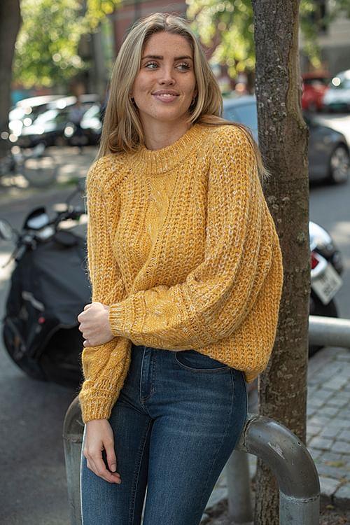Gestuz Zia Pullover Golden Yellow genser