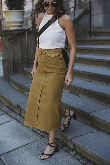 Astrid Long Skirt Tapenade