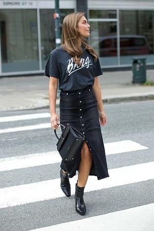 Astrid Long Skirt Black
