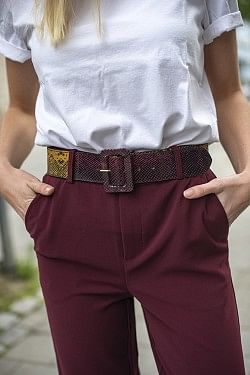 Bobbie Belt Bordeaux Belt