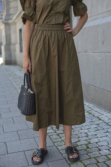 Cassia Skirt Dark Olive