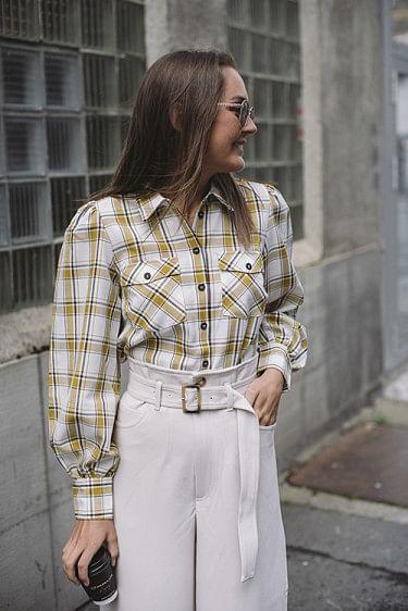 Chloes Ls Shirt Yellow Check