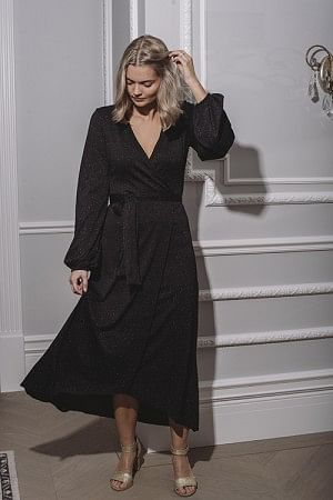 Justa Wrap Dress Black