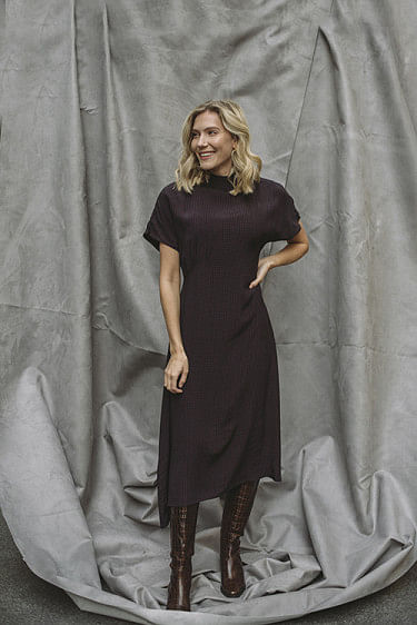 Kadian Dress Black/Red Print