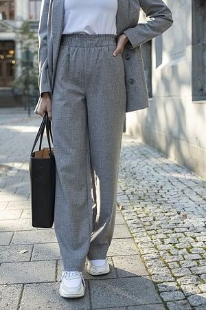 Shadi Pants Light Grey Melange