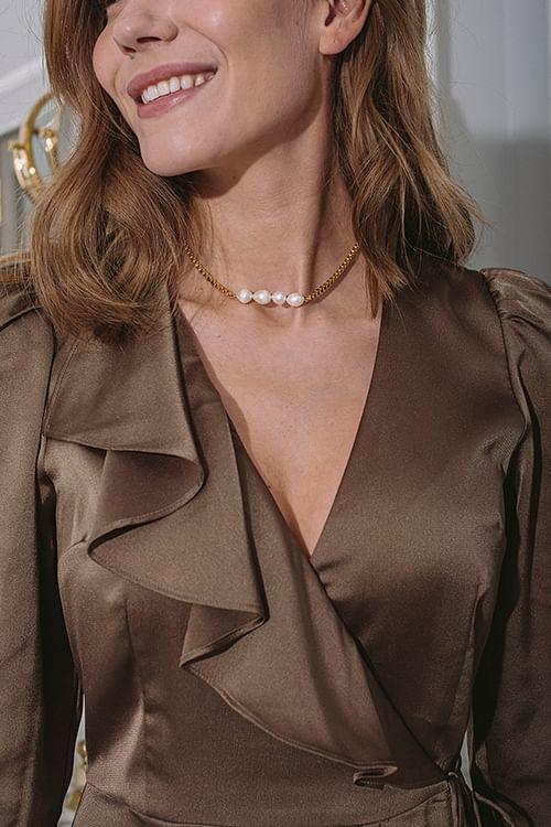 Goldmine Dusa Pearl Necklace  smykke