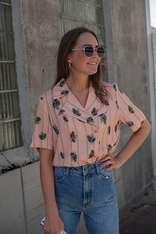 Holzweiler Borger Shirt Pink Print Big bluse
