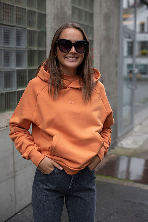 Holzweiler Hang On Hoodie Orange hettegenser
