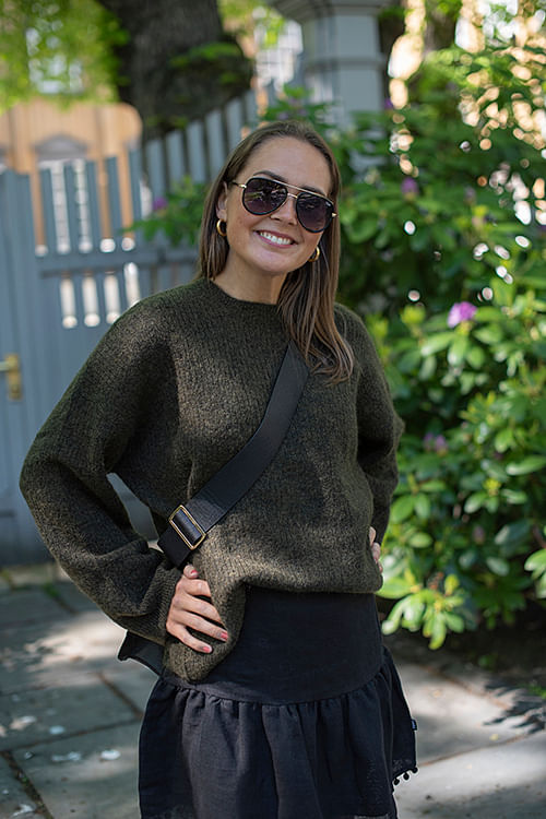 Nora Knit Sweater Olive Green