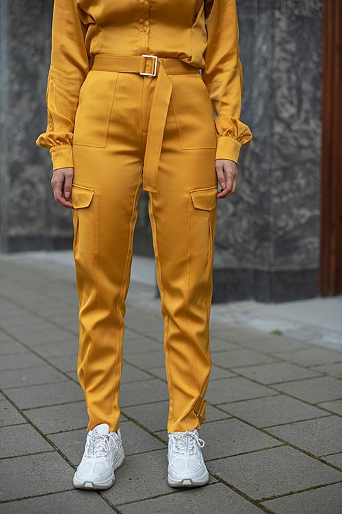 Holzweiler Skunk Trousers Yellow bukse