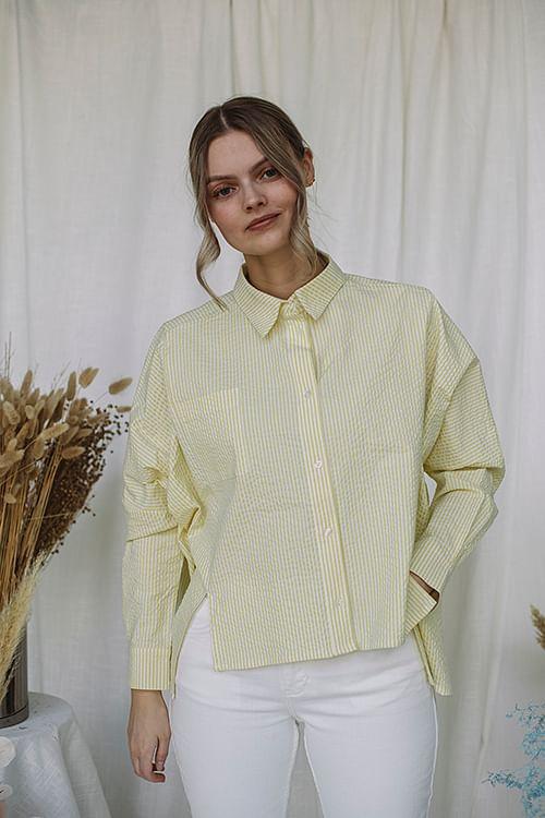 Holzweiler Son Shirt Yellow Stripe skjorte