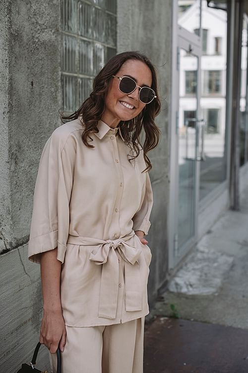 One&Other Whilma Shirt Light Beige skjorte bluse