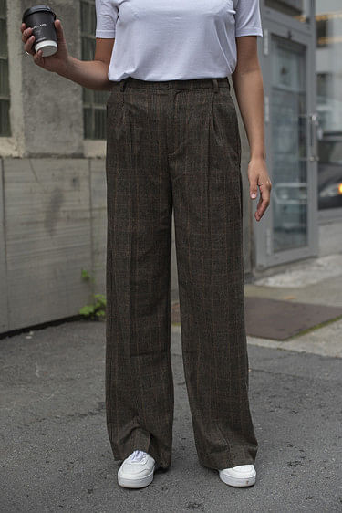 Bottomsup Check Trouser Brown Check
