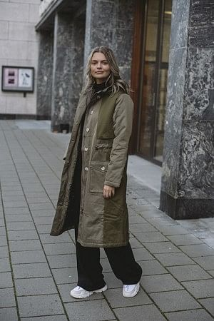 Citrin Canvas Coat Army