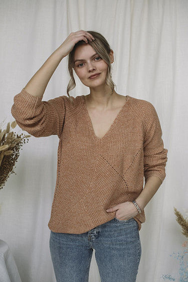 Dynastiet Sweater Light Orange
