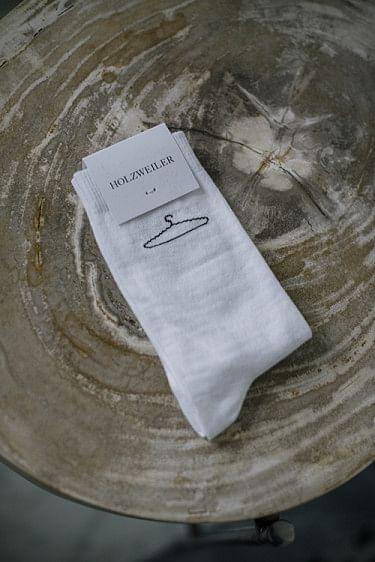 Hanger Plain Sock White