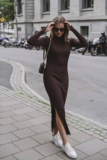 Noritt Knit Dress Dark Brown