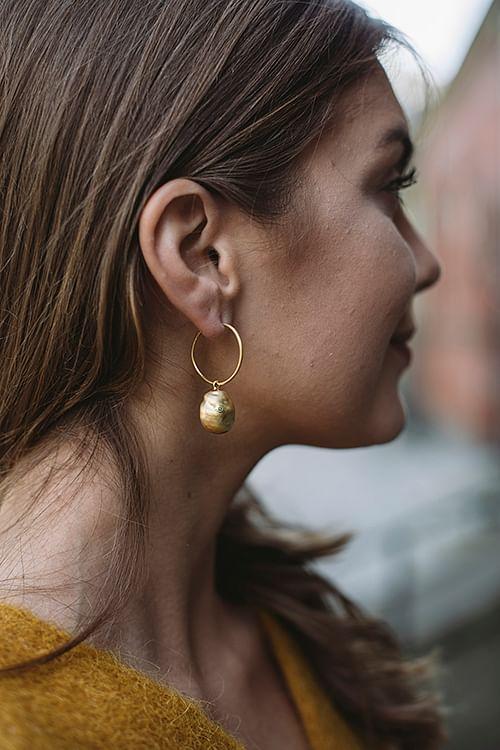 Jane Kønig Baroque Earring gold øredobber