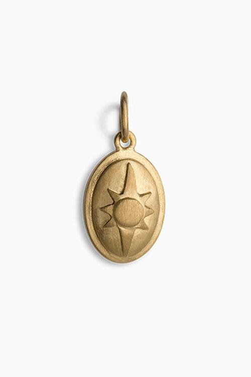Jane Kønig Shield Pendant Gold anheng