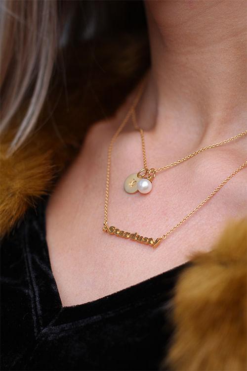 Jane kønig pearl pendant gold