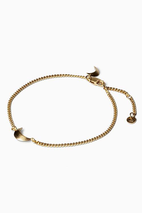 Jane Konig Half Moon Bracelet Gold armbånd