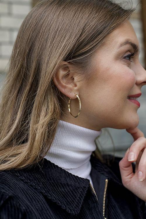 Jane Kønig Reflection Hoops Gold øreringer