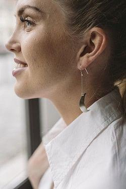 Half Moon Earrings Silver