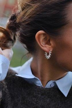 Little Sun Earrings Silver