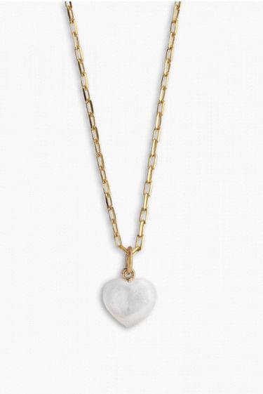 Small Souvenir Heart Pendant Gold