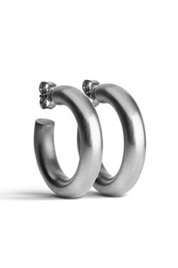 Chunky Hoops Silver