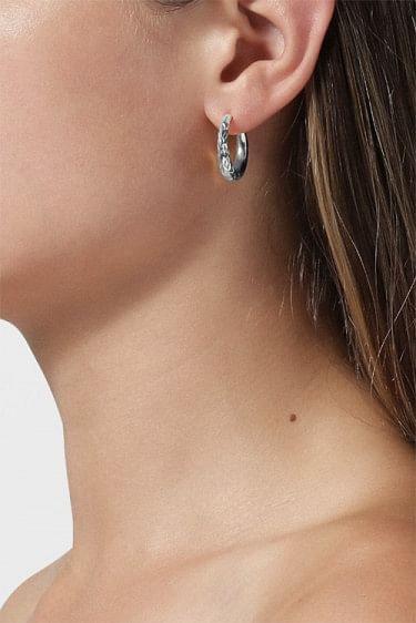 Reflection Rhombus Earrings Silver