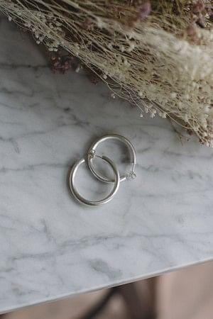 Slender Hoops Silver